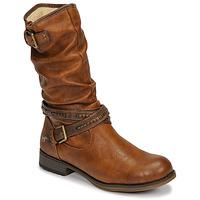 Boty Ženy Kozačky Mustang 1139624 Zlatohnědá
