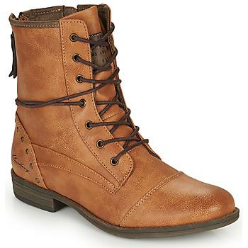 Boty Ženy Kotníkové boty Mustang 1157508 Velbloudí hnědá