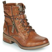 Boty Ženy Kotníkové boty Mustang 1293601 Zlatohnědá