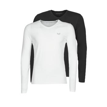 Textil Muži Trička s dlouhými rukávy Kaporal VIFT Černá-bílá