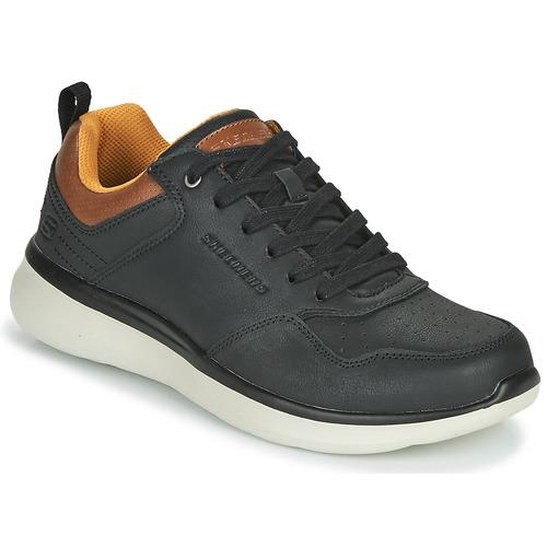 Boty Muži Nízké tenisky Skechers DELSON 2.0 PLANTON Černá / Velbloudí hnědá