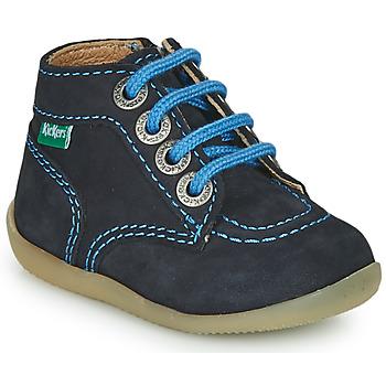 Boty Chlapecké Kotníkové boty Kickers BONZIP-2 Tmavě modrá