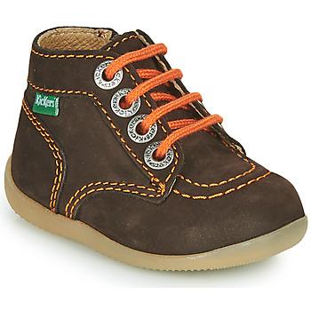 Boty Chlapecké Kotníkové boty Kickers BONZIP-2 Hnědá / Oranžová
