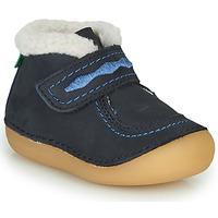 Boty Dívčí Kotníkové boty Kickers SOETNIC Tmavě modrá