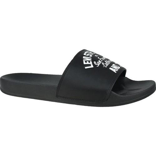 Boty Muži pantofle Levi's June California Bílé, Černé