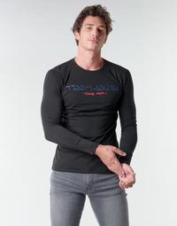 Textil Muži Trička s dlouhými rukávy Teddy Smith TICLASS BASIC M Černá
