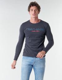 Textil Muži Trička s dlouhými rukávy Teddy Smith TICLASS BASIC M Tmavě modrá