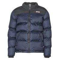 Textil Prošívané bundy Schott UTAH Tmavě modrá / Černá