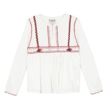 Textil Dívčí Halenky / Blůzy Chipie 8R12014-19 Bílá