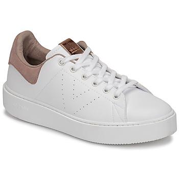 Boty Ženy Nízké tenisky Victoria UTOPÍA PIEL VEG Bílá / Růžová