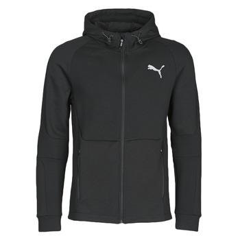 Textil Muži Teplákové bundy Puma EVOSTRIPE FZ HOODY Černá