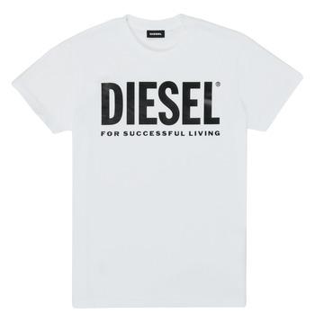 Textil Děti Trička s krátkým rukávem Diesel TJUSTLOGO Bílá