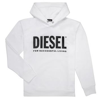 Textil Chlapecké Mikiny Diesel SDIVISION LOGO Bílá