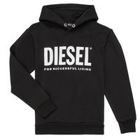 Textil Chlapecké Mikiny Diesel SDIVISION LOGO Černá