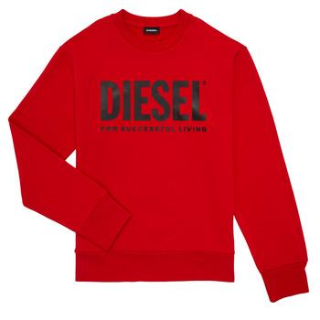 Textil Chlapecké Mikiny Diesel SCREWDIVISION LOGO Červená