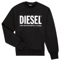 Textil Chlapecké Mikiny Diesel SCREWDIVISION LOGO Černá