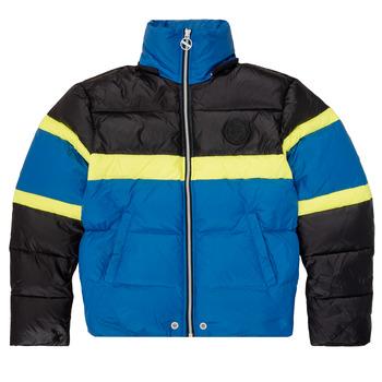 Textil Chlapecké Prošívané bundy Diesel JMARTOS Černá / Modrá / Žlutá