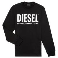 Textil Děti Trička s dlouhými rukávy Diesel TJUSTLOGO ML Černá