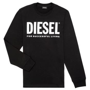 Textil Chlapecké Trička s dlouhými rukávy Diesel TJUSTLOGO ML Černá
