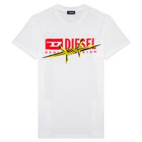 Textil Chlapecké Trička s krátkým rukávem Diesel TDIEGOBX2 Bílá