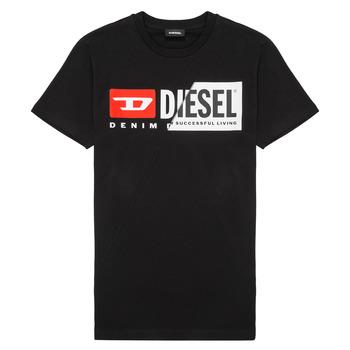 Textil Děti Trička s krátkým rukávem Diesel TDIEGOCUTY Černá