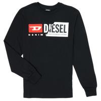 Textil Děti Trička s dlouhými rukávy Diesel TDIEGOCUTY Černá