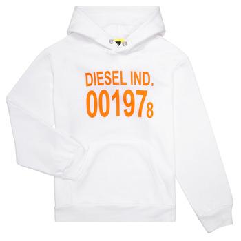 Textil Děti Mikiny Diesel SGIRKHOOD Bílá