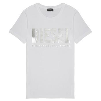Textil Dívčí Trička s krátkým rukávem Diesel TSILYWX Bílá