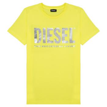 Textil Dívčí Trička s krátkým rukávem Diesel TSILYWX Žlutá