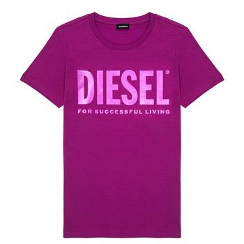 Textil Dívčí Trička s krátkým rukávem Diesel TSILYWX Růžová