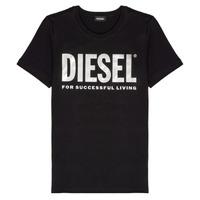 Textil Dívčí Trička s krátkým rukávem Diesel TSILYWX Černá