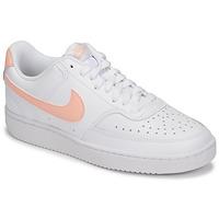 Boty Ženy Nízké tenisky Nike COURT VISION LOW Bílá / Růžová