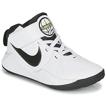 Boty Chlapecké Basketbal Nike TEAM HUSTLE D 9 PS Bílá / Černá