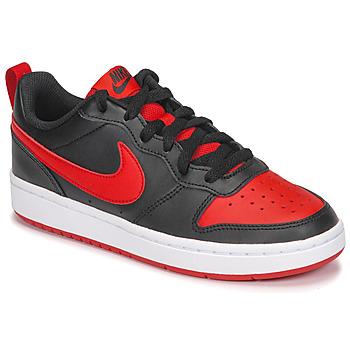 Boty Děti Nízké tenisky Nike COURT BOROUGH LOW 2 GS Černá / Červená