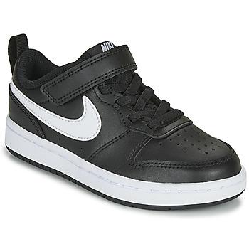 Boty Děti Nízké tenisky Nike COURT BOROUGH LOW 2 PS Černá / Bílá