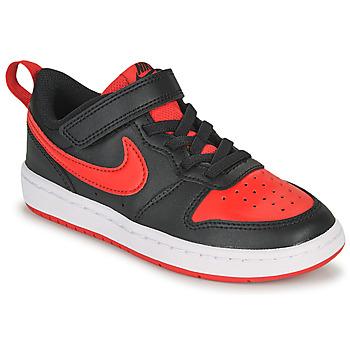 Boty Děti Nízké tenisky Nike COURT BOROUGH LOW 2 PS Černá / Červená