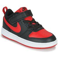 Boty Děti Nízké tenisky Nike COURT BOROUGH LOW 2 TD Černá / Červená
