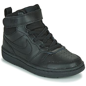 Boty Děti Kotníkové tenisky Nike COURT BOROUGH MID 2 PS Černá