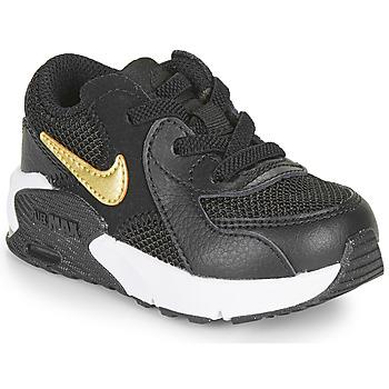 Boty Děti Nízké tenisky Nike AIR MAX EXCEE TD Černá / Zlatá