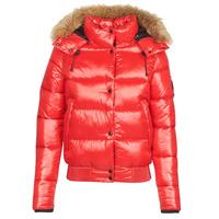 Textil Ženy Prošívané bundy Superdry HIGH SHINE TOYA BOMBER Červená