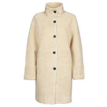 Textil Ženy Kabáty Esprit LL* FAKE FUR Béžová