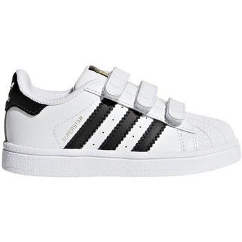 Boty Děti Nízké tenisky adidas Originals Superstar CF I Bílé