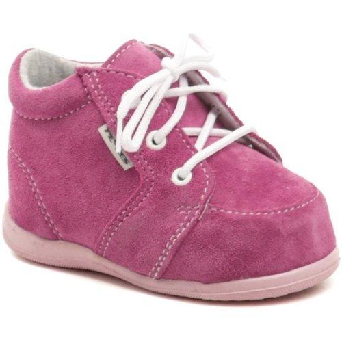 Boty Dívčí Kotníkové boty Pegres 1092 růžové dětské botičky Růžová