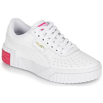 Boty Dívčí Nízké tenisky Puma CALI JR Bílá / Růžová