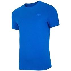 Textil Muži Trička s krátkým rukávem 4F TSM003 Modré