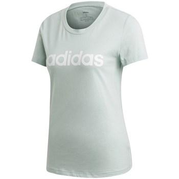 Textil Ženy Trička s krátkým rukávem adidas Originals Essentials Linear Slim Tee Bledě zelené