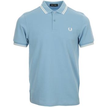 Textil Muži Polo s krátkými rukávy Fred Perry Twin Tipped  Shirt Modrá