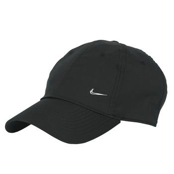 Textilní doplňky Kšiltovky Nike U NSW H86 METAL SWOOSH CAP Černá / Stříbrná