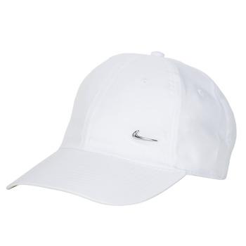 Textilní doplňky Kšiltovky Nike U NSW H86 METAL SWOOSH CAP Bílá / Stříbrná