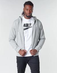 Textil Muži Mikiny Nike M NSW CLUB HOODIE FZ BB Šedá